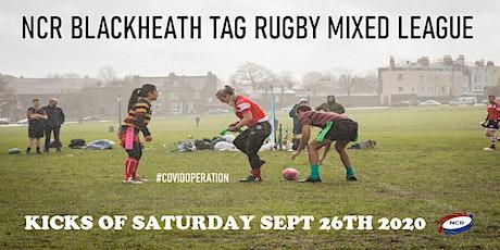 Saturdays NCR Blackheath Tag Rugby Mixed League SE London Autumn 2020 tickets