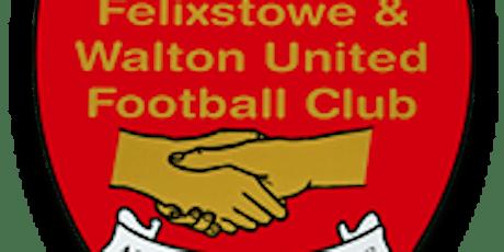 Felixstowe & Walton United v AFC Sudbury- Tuesday 29th Sept tickets