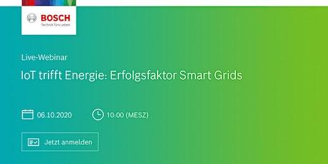 "Webinar ""IoT trifft Energie: Erfolgsfaktor Smart Grids"" Tickets"
