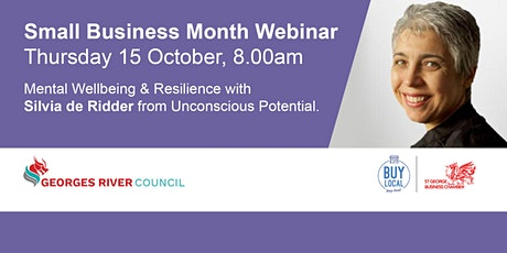 Mental Wellbeing & Resilience with Silvia de Ridder ingressos