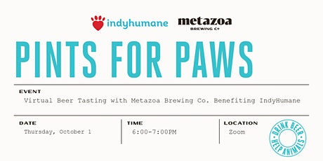 Pints for Paws: Virtual Seasonal Beer Tasting tickets