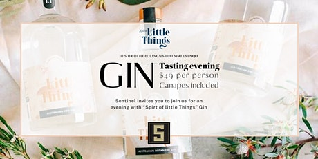 """4 x 4  Gin & Canapés  """"Spirit of Little Things"""" tickets"""