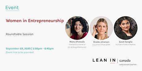 Lean In Canada Vancouver: Women in Entrepreneurship tickets