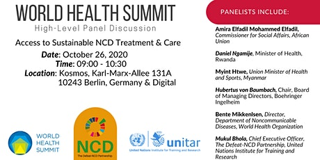 World Health Summit PD-12: Access to Sustainable NCD Treatment and Care Tickets