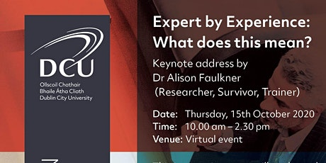 Expert by Experience in Public and Patient Involvement:What does this mean tickets