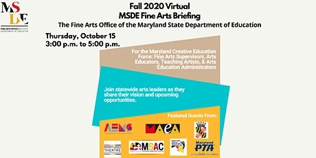 Fall MSDE Fine Arts Briefing tickets