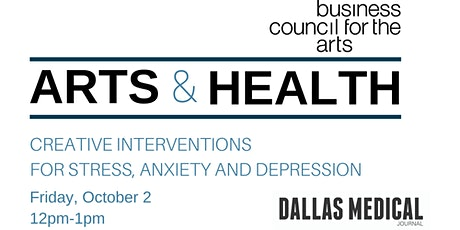 Arts & Health: Creative Interventions for Stress, Anxiety and Depression tickets