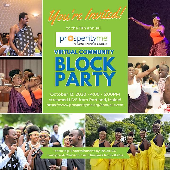 ProsperityME's 12th Annual Virtual Community Block Party image