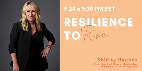 RESILIENCE TO RISE: Shirley Hughes tickets