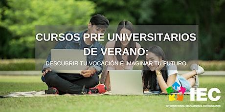 Cursos preuniversitarios de verano: descubre tu vocación entradas