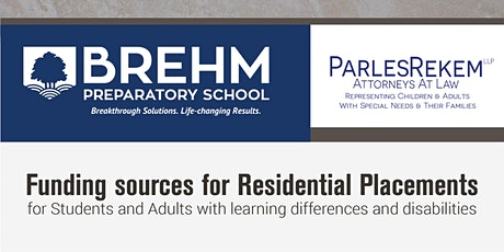Funding sources for residential placements for students and adults tickets
