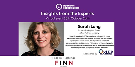 Insights from the Experts: Sarah Long , Partner - Brighter Group tickets