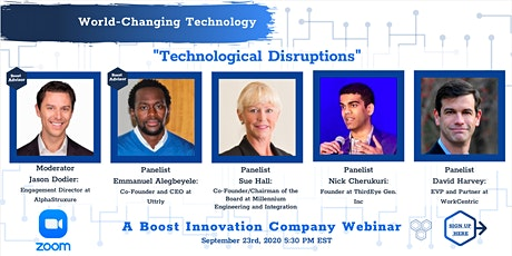 Boost Innovation Company Presents: Technological Disruptions tickets