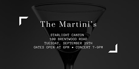 Concerts in the Canyon: Tuesday Night Jazz with the Martini's tickets