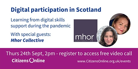 Digital Participation in Scotland - learning from the pandemic tickets