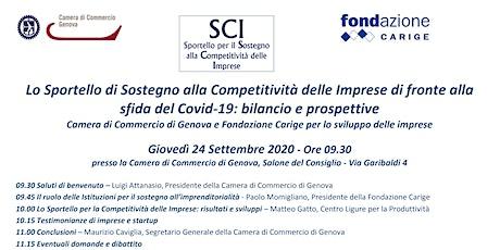 Sportello competitività delle imprese di fronte alla sfida del Covid-19: biglietti