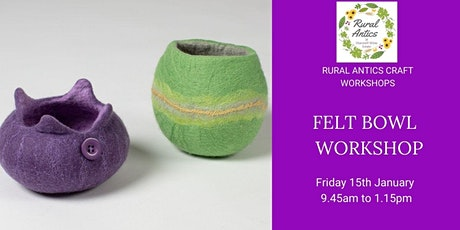Felt Bowl Workshop tickets