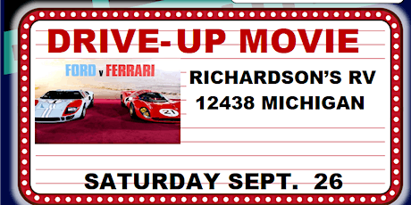 City of Grand Terrace  Drive-UP Movie  -Ford vs.Ferrari tickets