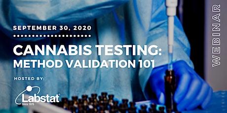 Cannabis Testing: Analytical Method Validation 101 tickets