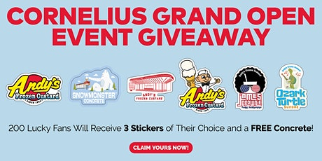 Cornelius Grand Open Event Giveaway tickets