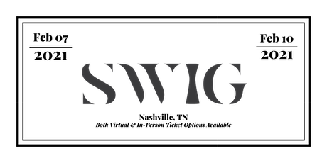 SWIG 2021 - Bar Conference tickets