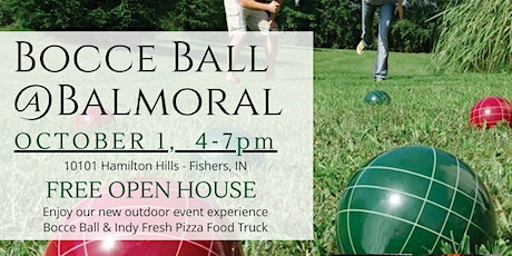 Bocce Ball @ Balmoral - OPEN HOUSE tickets