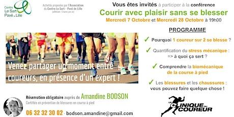 Conférence : Courir avec plaisir sans se blesser! billets