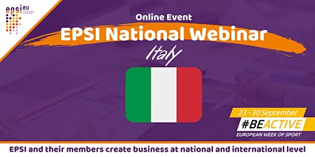 EPSI National Webinar - Italy tickets