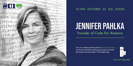 201 Talk: Jennifer Pahlka tickets