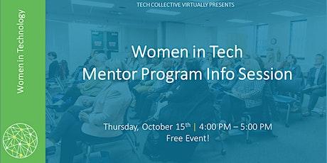 Women in Tech Mentor Program Info Session (Fall 2020 Cohort) tickets
