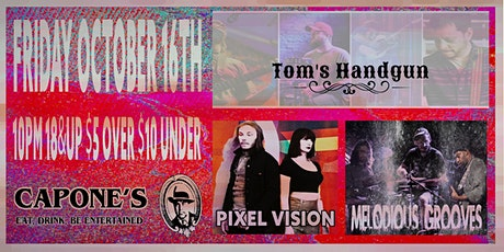Tom's Handgun with Pixel Vision and Melodious Grooves tickets