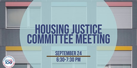 LWVNYC Housing Justice Committee Meeting - September tickets