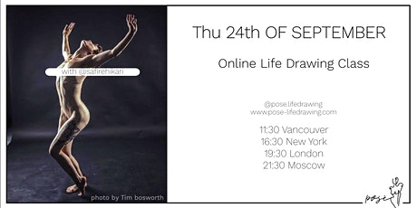 Life Drawing Class with @safirehikari tickets