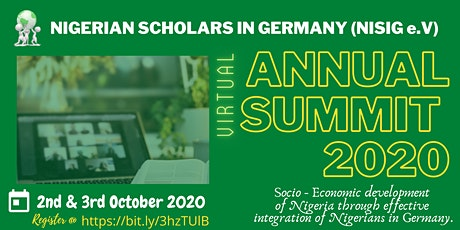 NIGERIAN SCHOLARS IN GERMANY (NiSIG e.V) ANNUAL SUMMIT tickets