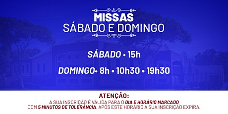 Missa Sábado e Domingo - 19 e 20  de Setembro  -  P.  N. Sra. da Assunção ingressos