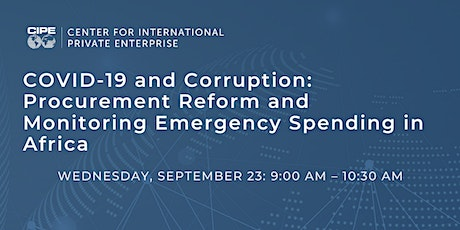 COVID-19 and Corruption: Procurement Reform & Monitoring Emergency Spending tickets