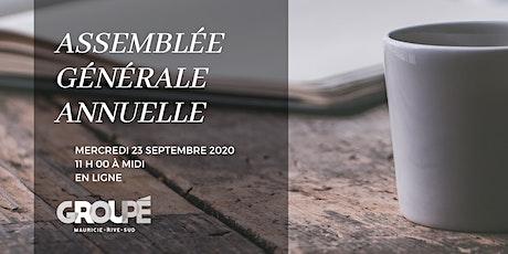 Assemblée générale annuelle - GROUPÉ Mauricie + Rive-Sud tickets