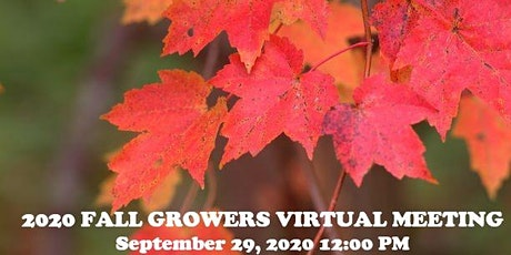 2020 FALL GROWERS MEETING tickets