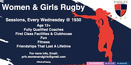 Paisley RFC Women & Girls rugby Training tickets