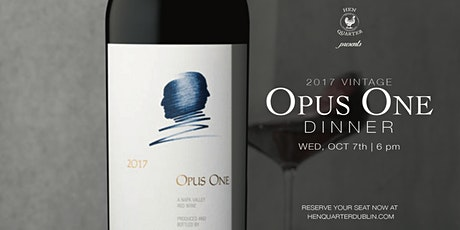 Opus One 2017  Dinner tickets