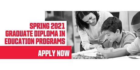 Info Session - Graduate Diploma in Education (GDE) Spring 2021 Programs tickets