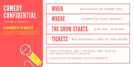 Comedy Confidential at Talbott's tickets
