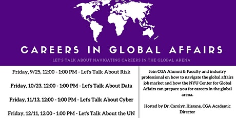 Careers in Global Affairs - Let's Talk About Data tickets
