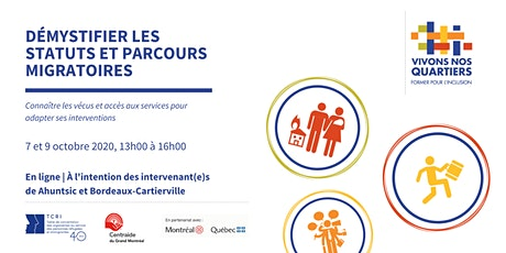 """Formation """" Démystifier les statuts et parcours migratoires """" tickets"""