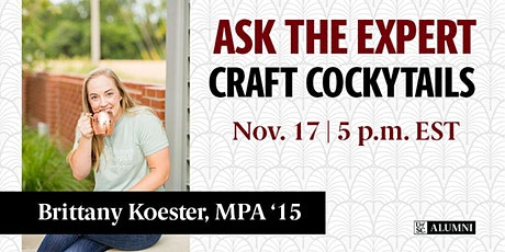 Ask the Expert: Craft Cockytails 2 tickets