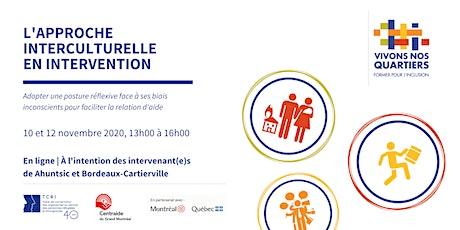 "Formation "" L'approche interculturelle en intervention  "" billets"