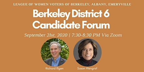 Candidate Forum for Berkeley City Council District 6 tickets
