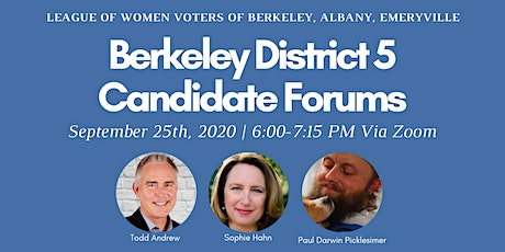 Candidate Forum for Berkeley City Council District 5 tickets