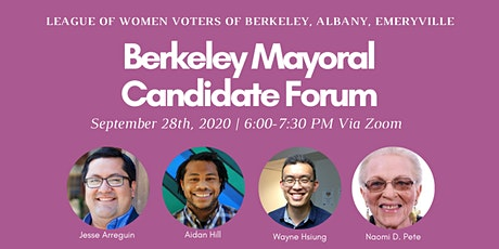 Candidate Forum for Berkeley Mayoral Candidates tickets
