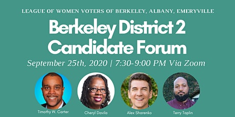 Candidate Forum for Berkeley City Council District 2 tickets